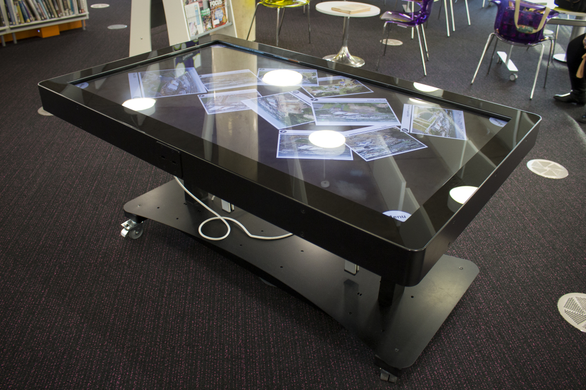 Digital table multi touch screen history display - Css display table tutorial ...